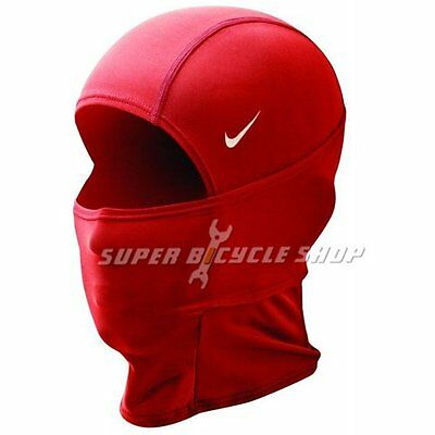 NIKE Pro Combat Therma-Fit Hood Neck Warmer Gaiter Face Mask 4 Way Style, Red