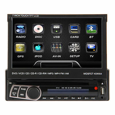 "UK 7"" In Dash Single 1Din Car Stereo Radio DVD Player Touch Screen MP3 EU NO TAX"