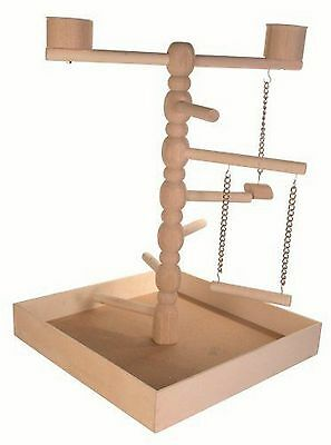 Trixie Wooden Playground Budgie Birds Play Stand Canary Ladder Natural Swing Toy