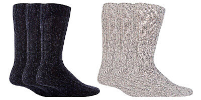 Workforce - 3 Pack Mens Thick Heavy Duty Wool Knit Hiking Work Boot Crew Socks