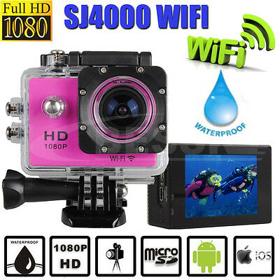Ultra 1080P HD WIFI Wireless Waterproof Sports DV Video Action Camera Camcorder