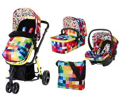 Cosatto Giggle 2 - Pixelate - With FREE CAR SEAT - BNIB 3 in 1 Travel System