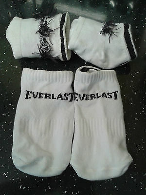 3 pairs of white kids Everlast sports socks, infant size 5-7