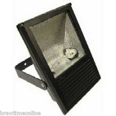 150w Metal Halide Floodlight Black HQI White Light CLEARANCE Brand New Boxed