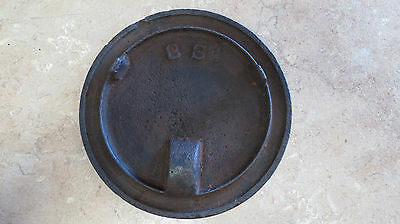 Antique Cast Iron Stove Top Lid Cover