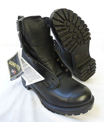 BLACK LEATHER GORE-TEX PRO COMBAT BOOTS - Small sizes CADETS , British Army NEW