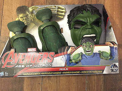 The Incredible Green Hulk Mighty Muscles & Mask Set, Avengers Age Of Ultron
