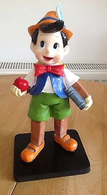 """Disney Pinocchio Statue Figure On Stand 10"""" Gorgeous Collectable ❤️"""