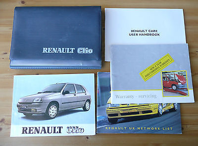 Renault Clio RL,RSI,RTI,16S-16V,Baccara Owners Handbook/Service Book 1991-1994
