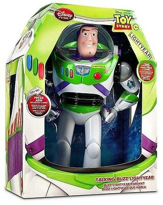 """NEW Toy Story Advance 12"""" Buzz Lightyear Pop Out Wing Talking Action Figure Doll"""