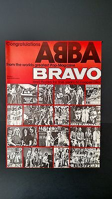"""Abba """"from The Worlds Greatest Mag.bravo"""" Rare Original Print Promo Poster Ad"""