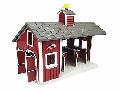 """Breyer Stablemates Red Stable Set 11L x 7""""W x 10.5""""H"""""""