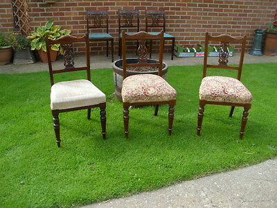 Chair: 3 x Ornate Edwardian period dining chairs, one to restore/recover