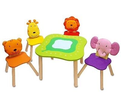 NEW Children Kids I'm Toy Forest Animal Wood Chairs:Hippo,Lion,Giraffe,Elaphant