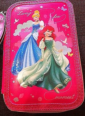 New Disney Princess Double Tier filled Pencil Case Kids Children - Gift