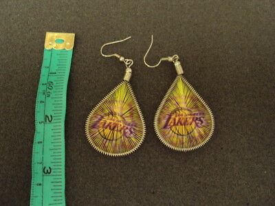 New Pair Of Thread Earring With La Lakers Picture