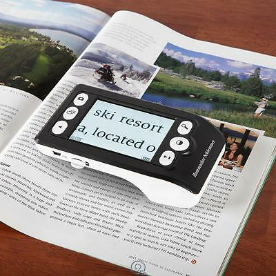 """Digital Text Stabilizing Digital Reading Aid Magnifier 10X 3.5"""" LCD Color Screen"""