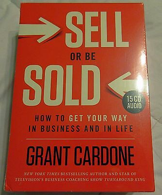 Grant Cardone Sell or be Sold 15 CD Audiobook Set - Brand New Factory Sealed