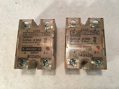 Omron G3NA-210B Solid State Relays (Lot of 2)