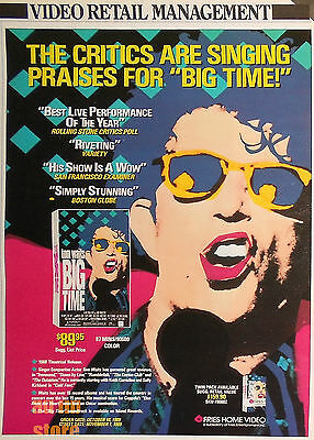 Tom Waits - Big Time Fries Home Video, Magazine Advert/ad 1989