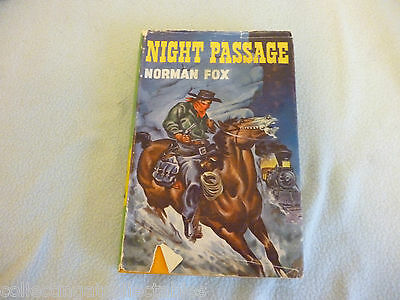 Hard Back Western Book Night Passage By Norman Fox 1958