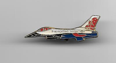 Vintage F-16 Fighting Falcon Aircraft old enamel pin