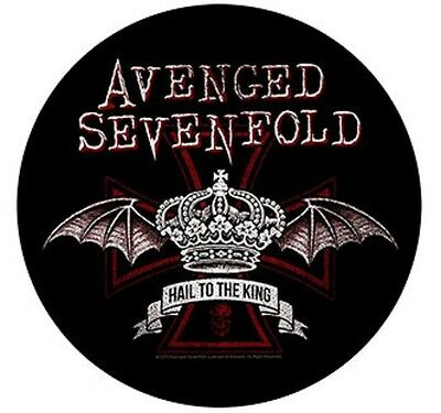 AVENGED SEVENFOLD round BACK PATCH New Official Red crown