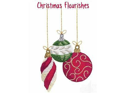 Christmas Flourishes Collection  ~ Designs In Machine Embroidery On Cd