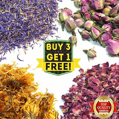Dried Flowers & Petals 50+ Types! Tea, Wedding Confetti, Soap Craft Candle Decor