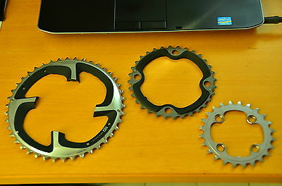 New Shimano XTR M980 Triple Chainrings Chainring Rings 42/32/24 10s 104/64 BCD