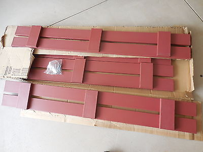 """2 Sets 7.75"""" x 55"""" Burgandy Red Custom Board and Batten Outdoor Shutters  (TS)"""