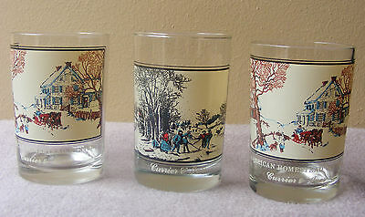 Currier & Ives Arby's Collector Glasses American Homestead Winter Pastime Scenes