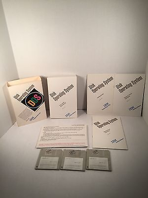 """IBM Operating System DOS 5.0 3.5"""" Diskettes 1991"""