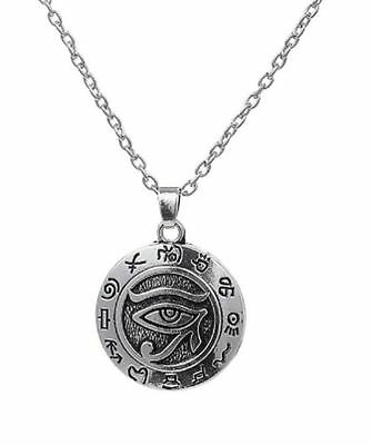 Religious Egyptian Eye of Ra Horus Udjat Pharaoh Protection Power Chain Necklace