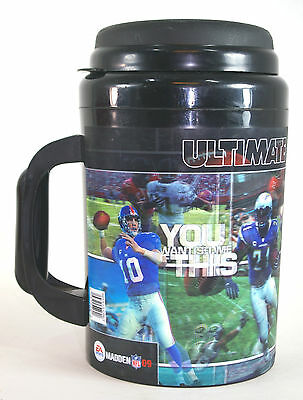 7 Eleven Ultimate Gulp EA Sports Madden 09 Hologram NFL Football 64oz Thermoserv