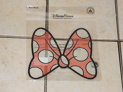 Disney Parks Minnie Mouse Big Red Bow Car Auto Window Sticker Decal Cling NEW