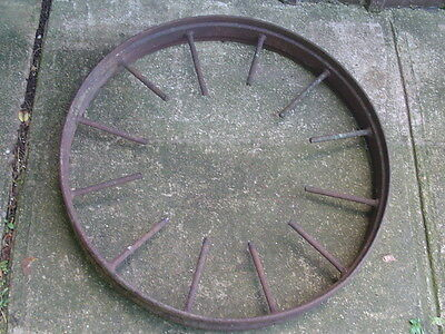 Vintage Cast Iron WAGON WHEEL 28 inch 32# antique 12 spoke farm + + 4 available