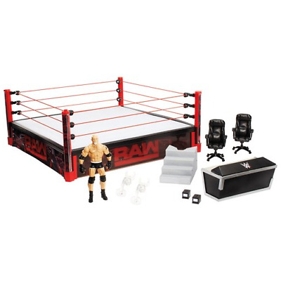 WWE Wrestling Ring Official Scale Toy Cage RAW Pro Authentic Realistic Stage NEW
