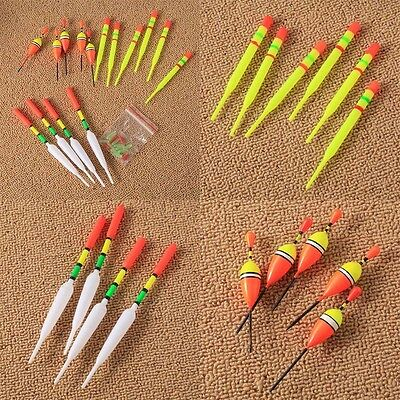 15PCS Assorted Sizes Fishing Lure Floats Bobbers Drift Tube tool accessories