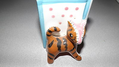 vintage wall pocket  childs kitty