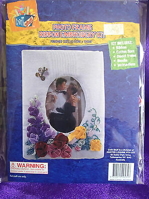 ribbon embroidery kit for photo frame
