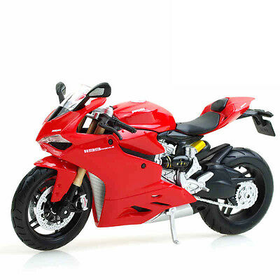 1 Pc 1:12 Ducati 1199 Diecast Model Toy Motorcycle Collection Manufacture Red
