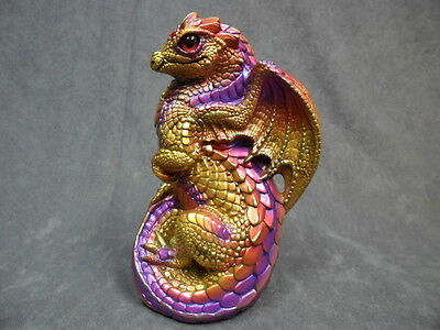 Windstone Editions * Violet Flame Young Dragon * Fantasy Figurine Statue Figure