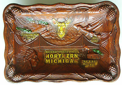 Northern Michigan Commemorative Tray made by ANCO - Vintage