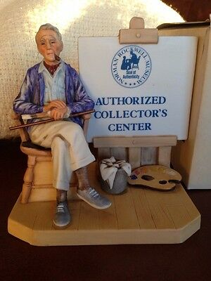 Norman Rockwell Museum Authorized Collectors Sign Figure