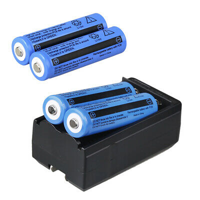 4x UltraFire 3000mAh 18650 Battery 3.7v Li-ion Rechargeable Batteries US Charger