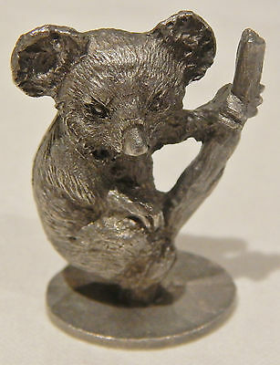 Pewter Koala on Branch 1978 Vintage Spoontiques Collectible Miniature Figurine
