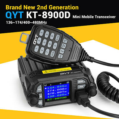 Updated QYT KT-8900D Dual Band Color Screen QuadStandby Mobile Radio Transceiver
