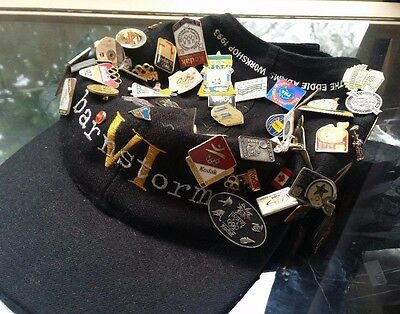 Kodak Hat Covered in Pins - Mainly Olympic Themes