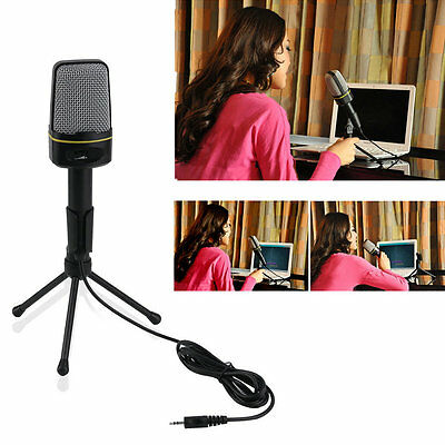 3.5mm Wired Studio Capacitive Plug and Play Microphone SF-920 For Computer JL